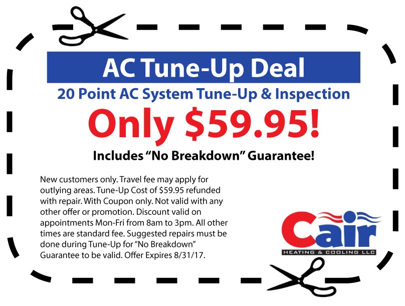 Hvac Coupons Cair Heating And Cooling Louisville Ky
