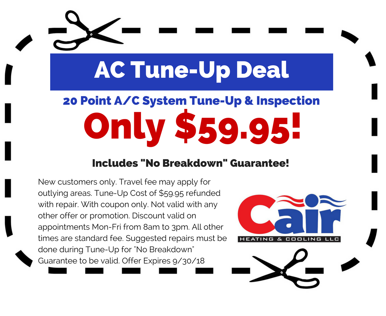 hvac coupons for Cair Heating and Cooling in Louisville, KY